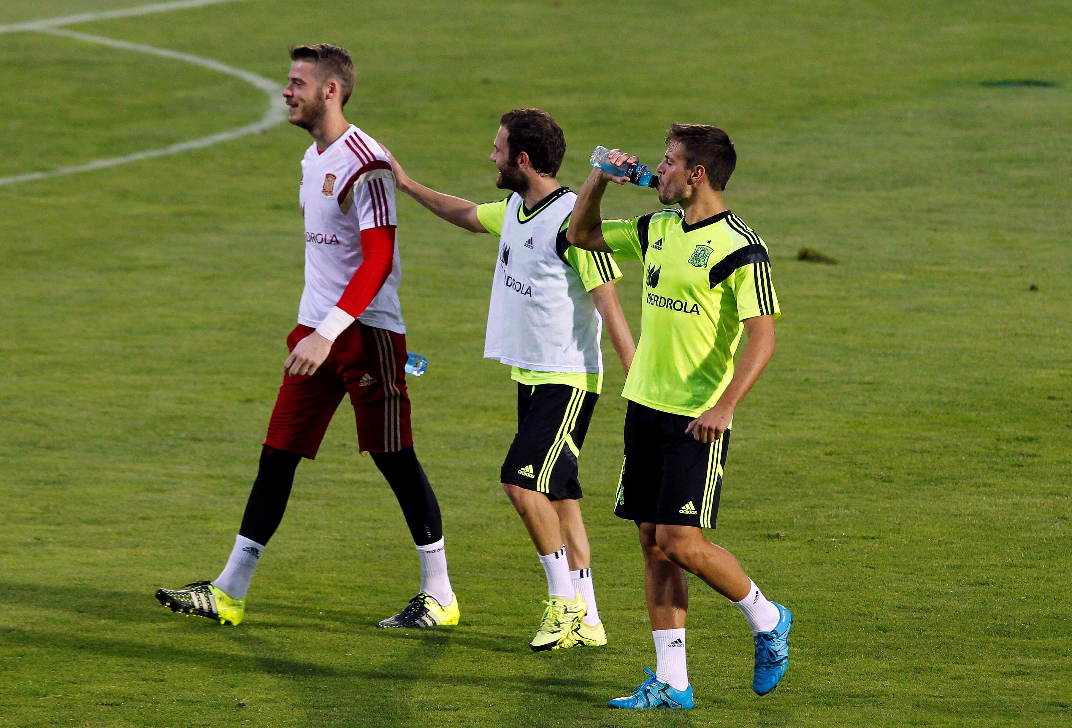 Juan Mata, David De Gea Y César Azpilicueta Con La Selección