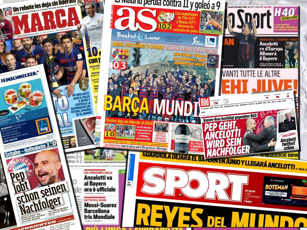 La Llegada De Ancelotti Al Bayern Ocupa Las Principales Portadas