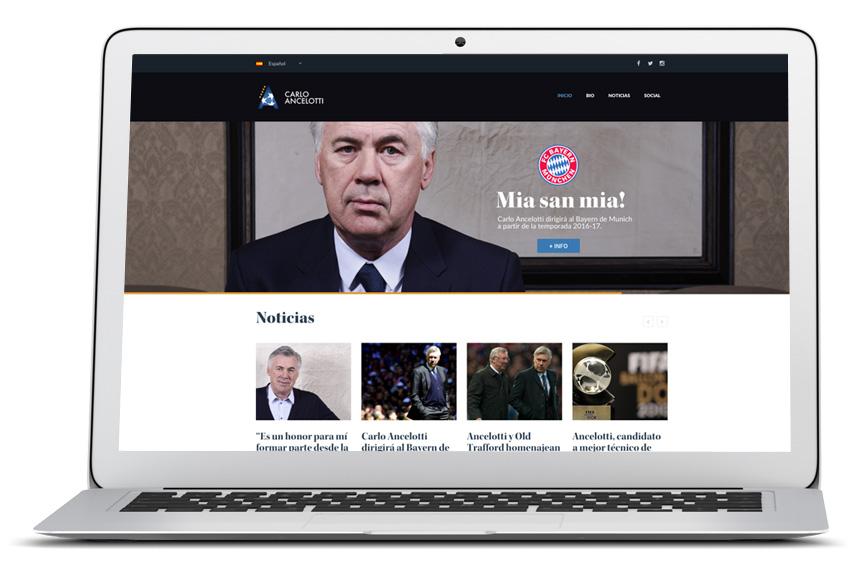 Ancelotti Renueva Su Sitio Web Oficial